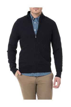 Blazer - Ruben Full Zip Textured Cotton Knit