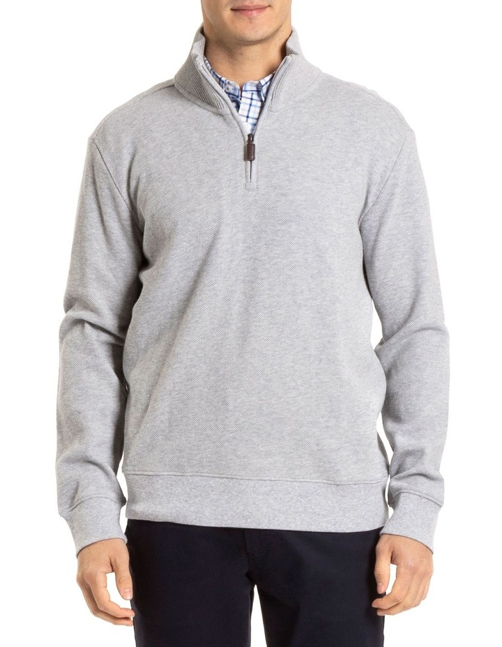 Russell 1/2 Zip Textured Knit image 1