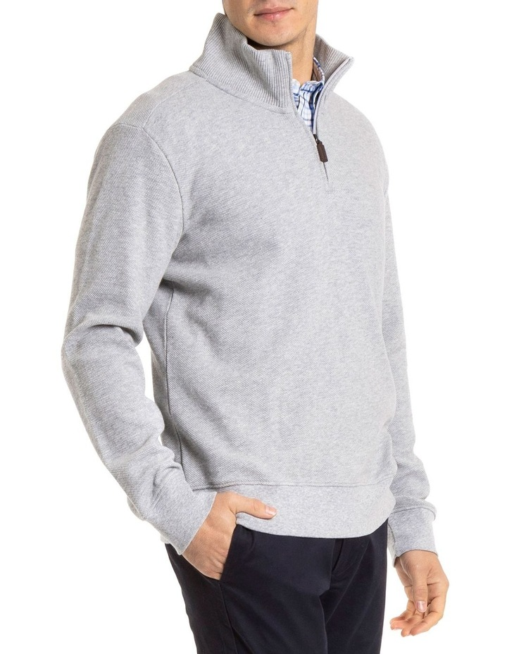 Russell 1/2 Zip Textured Knit image 2