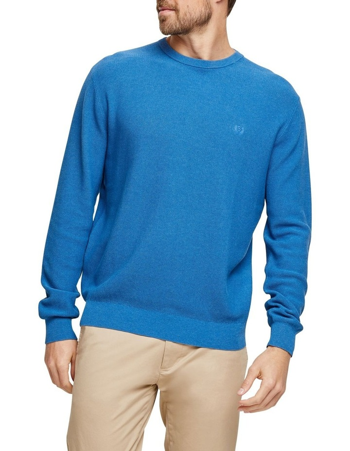 Cotton Textured Crew Neck Knit image 1