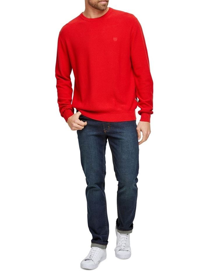 Cotton Textured Crew Neck Knit image 2