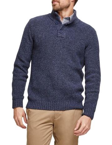 2daeb03befa5d Blazer Oscar Button Neck Cotton Blend Knit