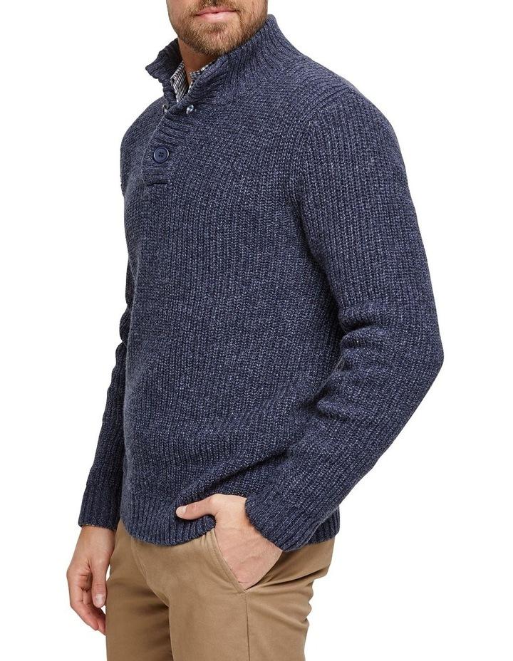 Oscar Button Neck Cotton Blend Knit image 2