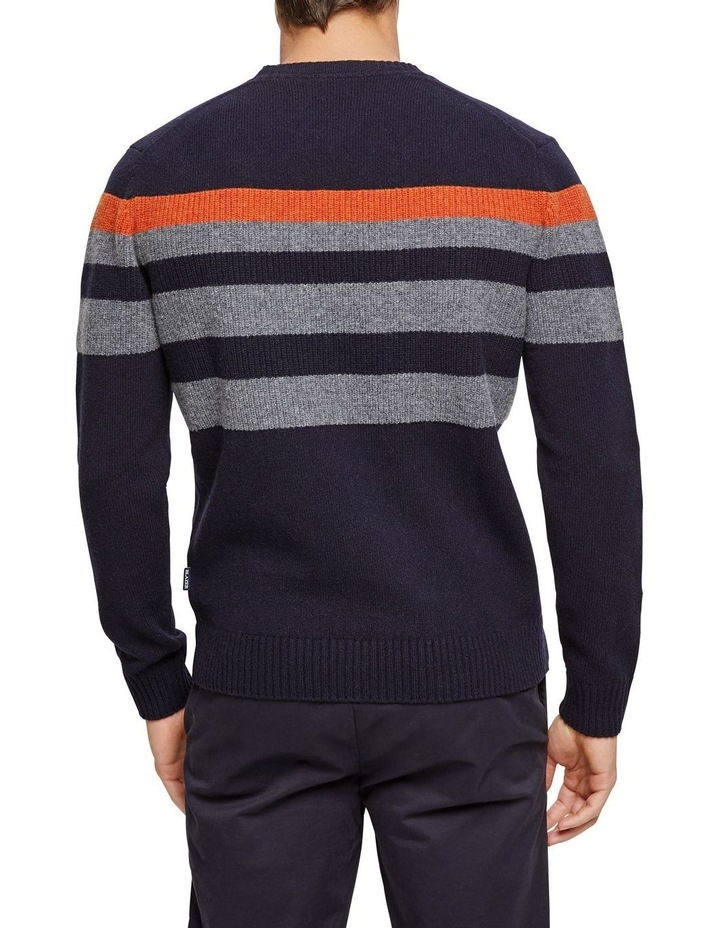 Sean Lambswool Chest Stipre Crew Knit image 3