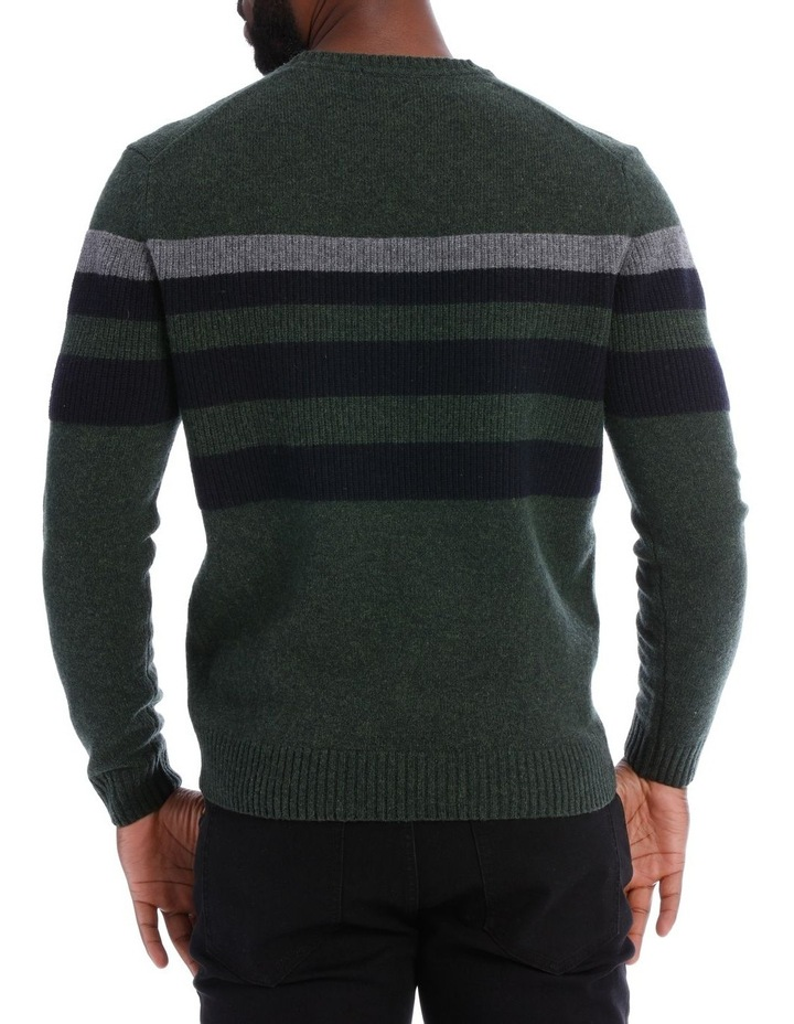 Sean Lambswool Chest Stripe Crew Knit image 3