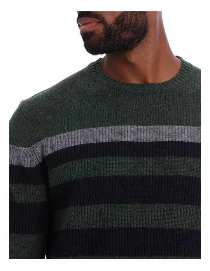 Sean Lambswool Chest Stripe Crew Knit image 4