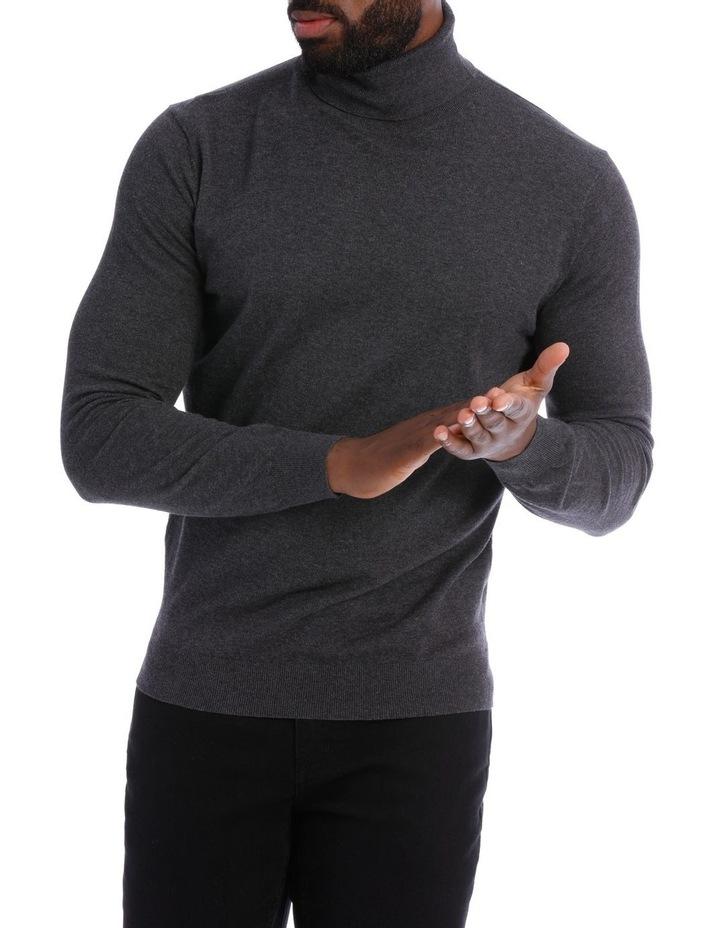 Cotton Blend Roll Neck Knit image 1