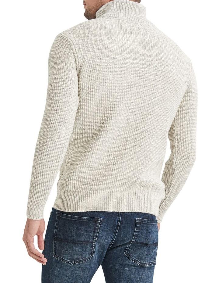 Oscar 1/2 Zip Cotton Mix Knit image 2