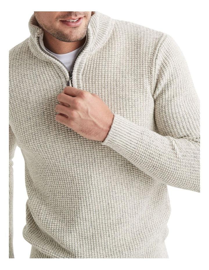 Oscar 1/2 Zip Cotton Mix Knit image 3