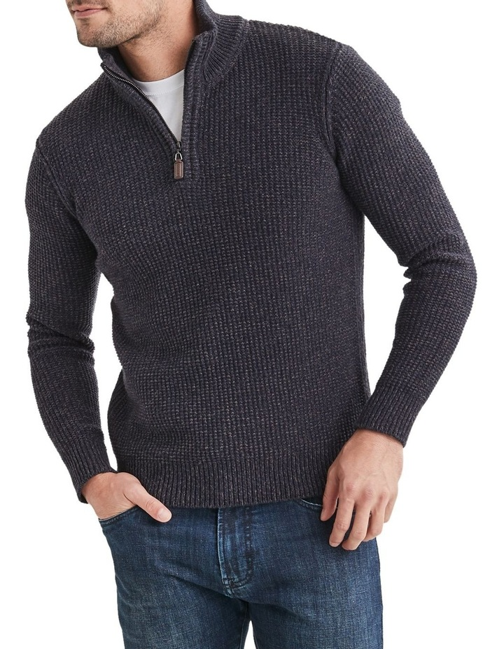 Oscar 1/2 Zip Cotton Mix Knit image 1