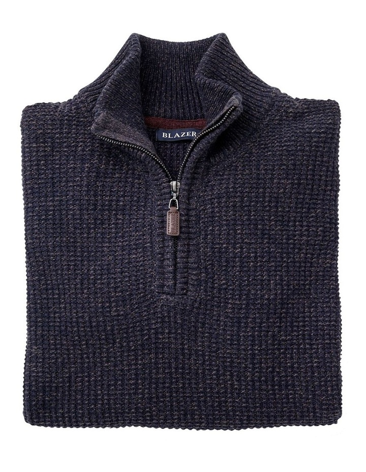 Oscar 1/2 Zip Cotton Mix Knit image 4