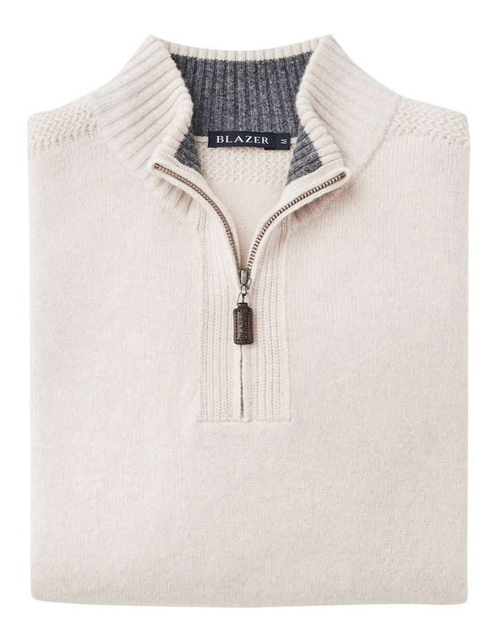 Hamish Wool Blend 1/2 Zip Knit image 4
