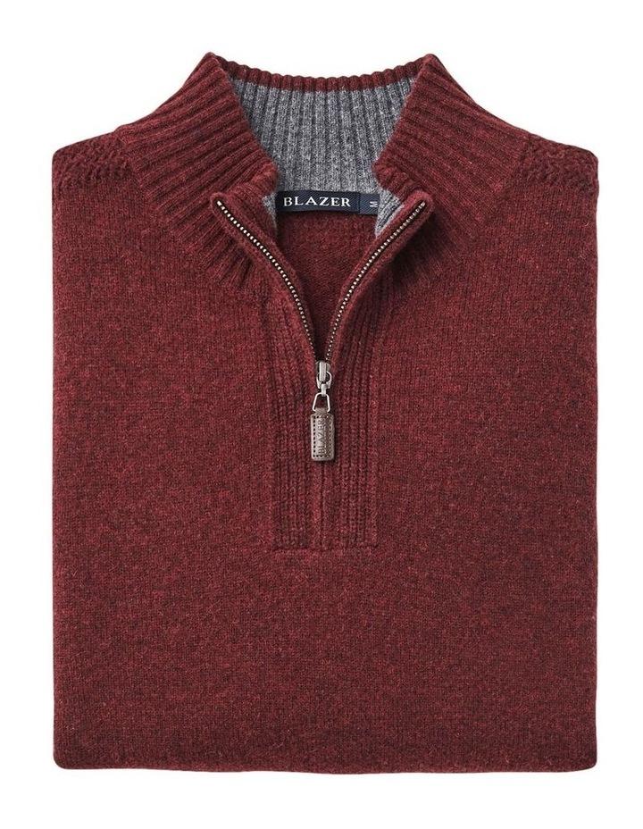 Hamish Wool Blend 1/2 Zip Knit image 2