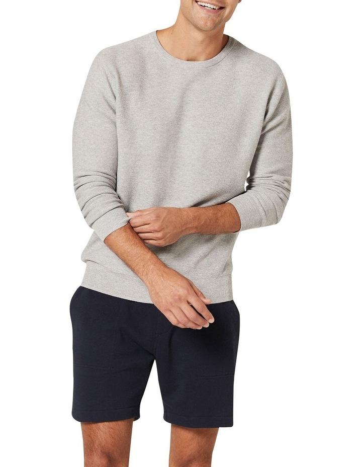 Mason Cotton Crew Neck Knit Grey image 1