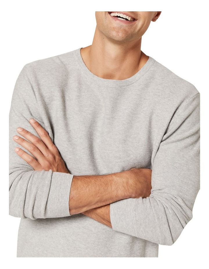 Mason Cotton Crew Neck Knit Grey image 4