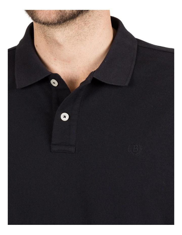 Classic Pique Polo in Black image 4