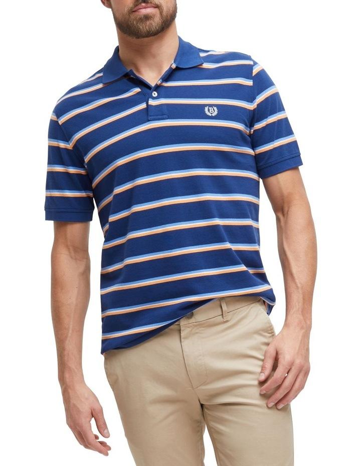 Connor Stripe Pique Polo image 1