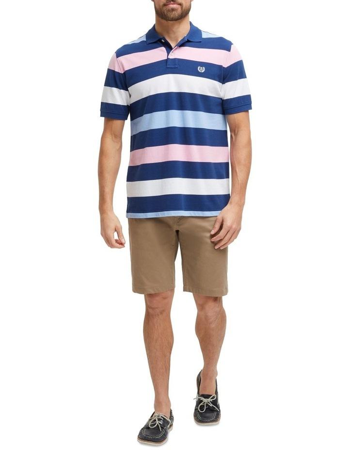 Isaiah Stripe Pique Polo image 4