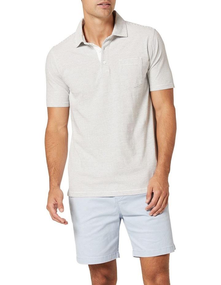 Hampton Stripe Jersey Polo  White image 1