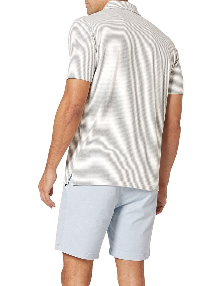 Hampton Stripe Jersey Polo  White image 2