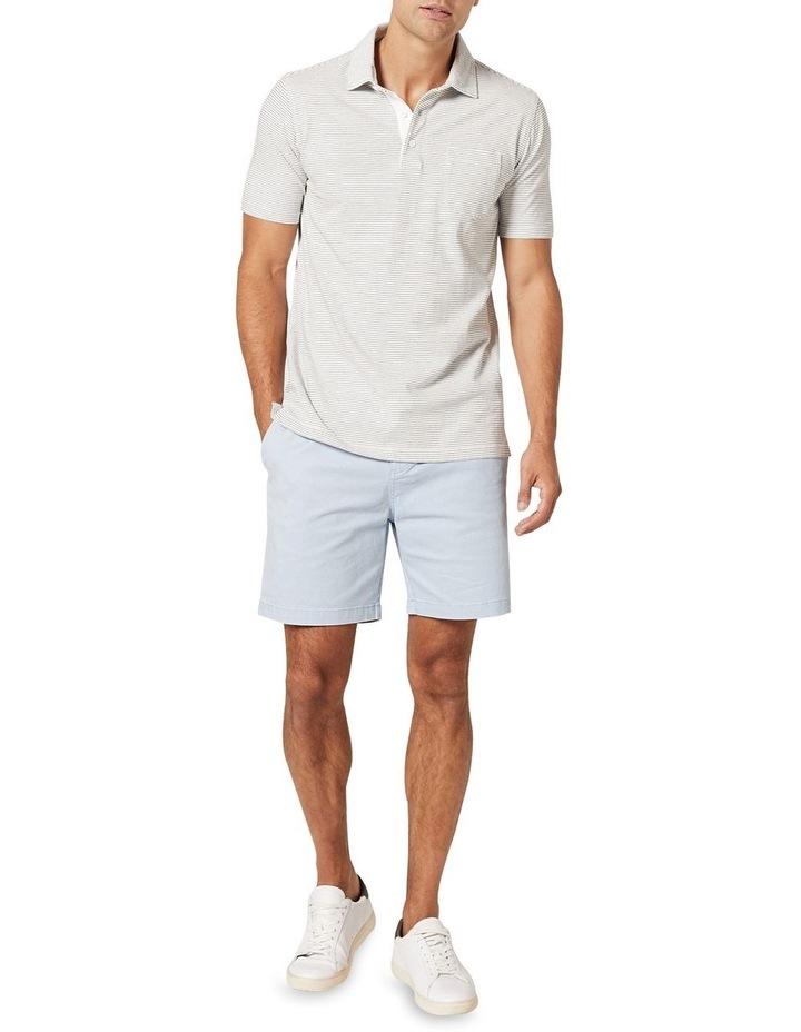 Hampton Stripe Jersey Polo  White image 3