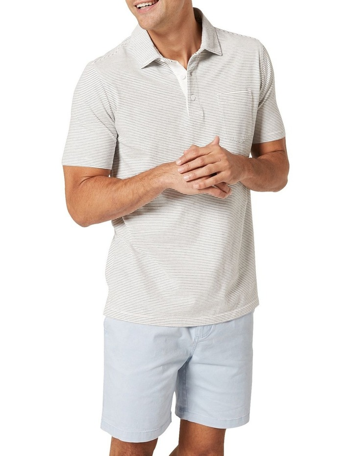 Hampton Stripe Jersey Polo  White image 4