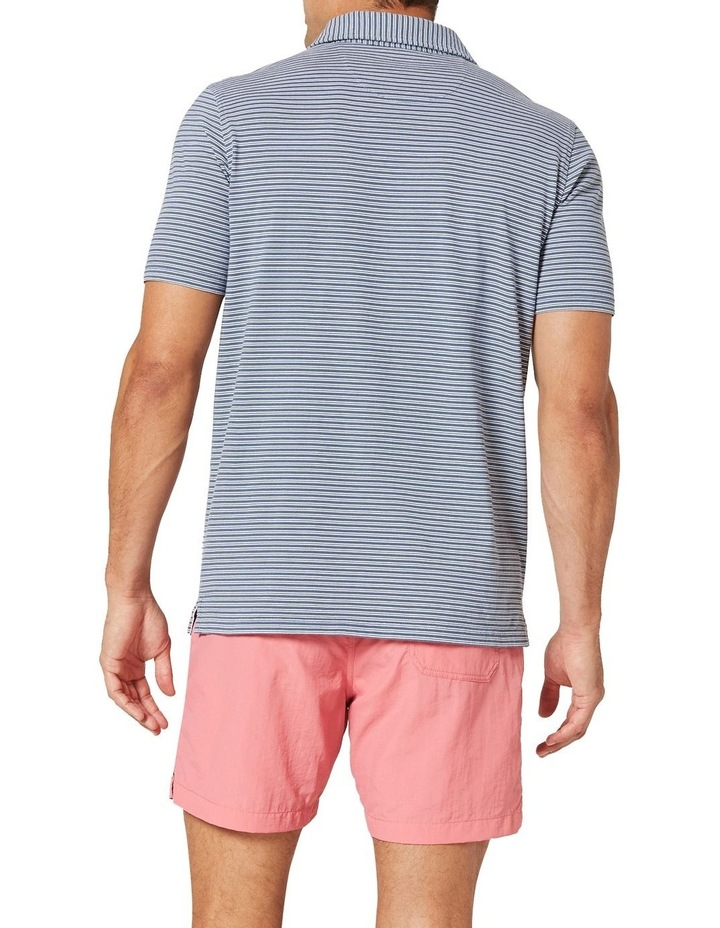 Theo Stripe Jersey Polo  Blue image 2