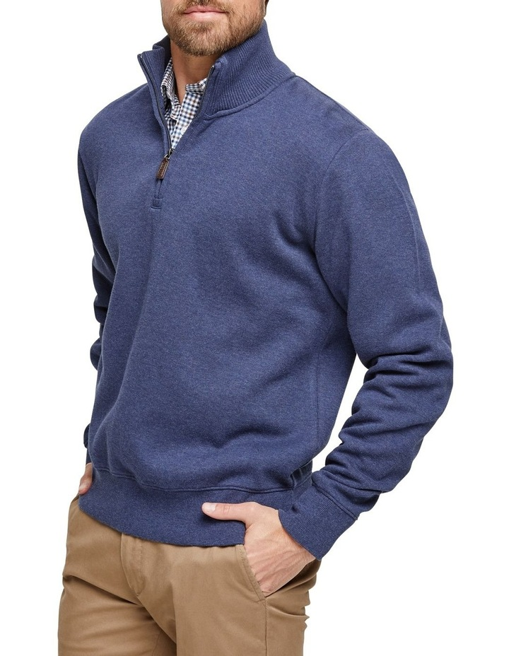 French Rib 1/2 Zip Sweat image 2