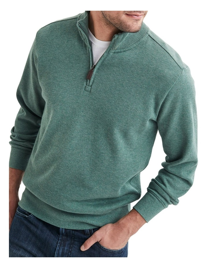 1/2 Zip French Rib Sweater image 1