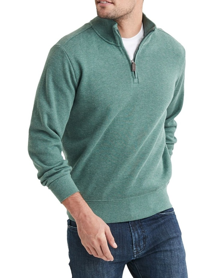 1/2 Zip French Rib Sweater image 3
