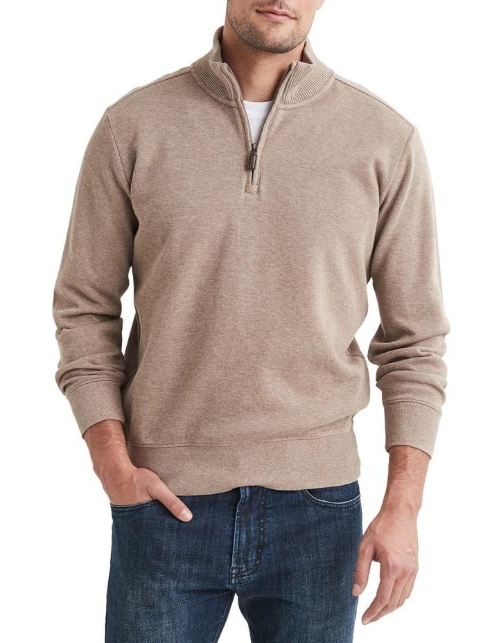 1/2 Zip French Rib Sweater image 3