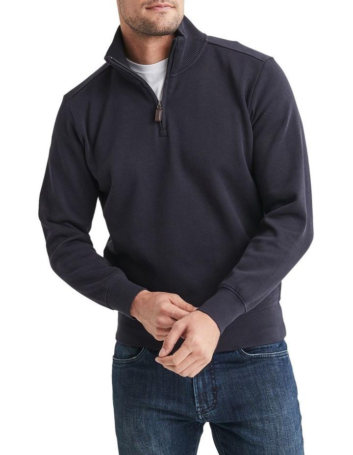 1/2 Zip French Rib Sweater image 1
