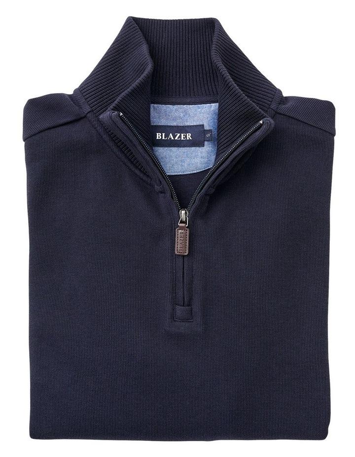1/2 Zip French Rib Sweater image 4