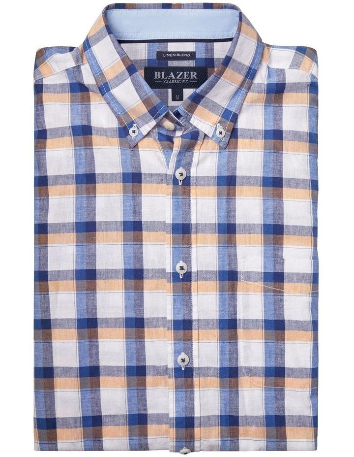 Charlie Short Sleeve Cotton Linen Check Shirt image 5