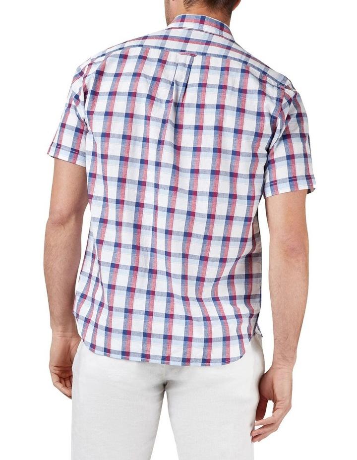 Charlie Short Sleeve Cotton Linen Check Shirt image 2