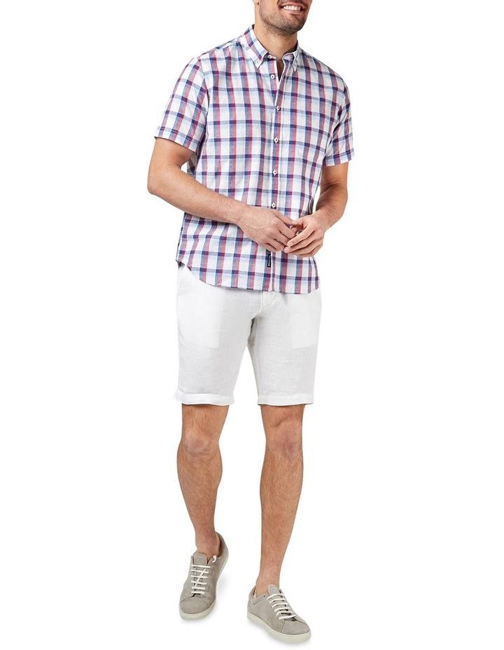 Charlie Short Sleeve Cotton Linen Check Shirt image 3