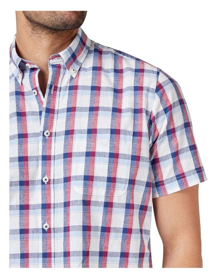Charlie Short Sleeve Cotton Linen Check Shirt image 4