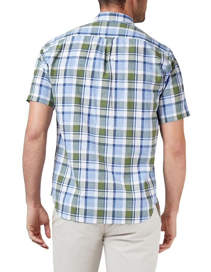 Noah Short Sleeve Cotton Linen Check Shirt image 2