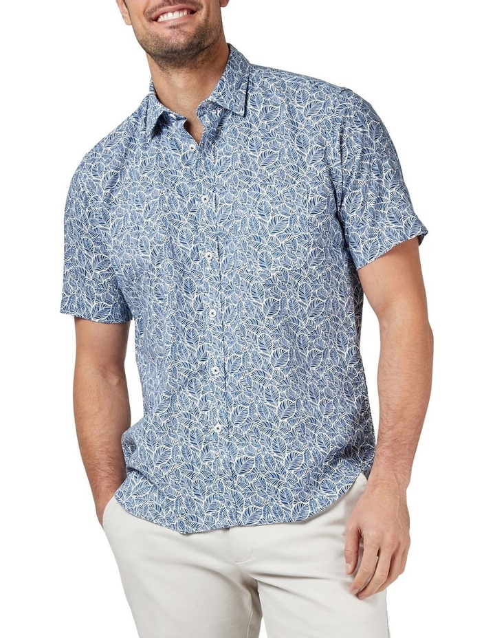Alfie Short Sleeve Cotton Linen Print Shirt image 1