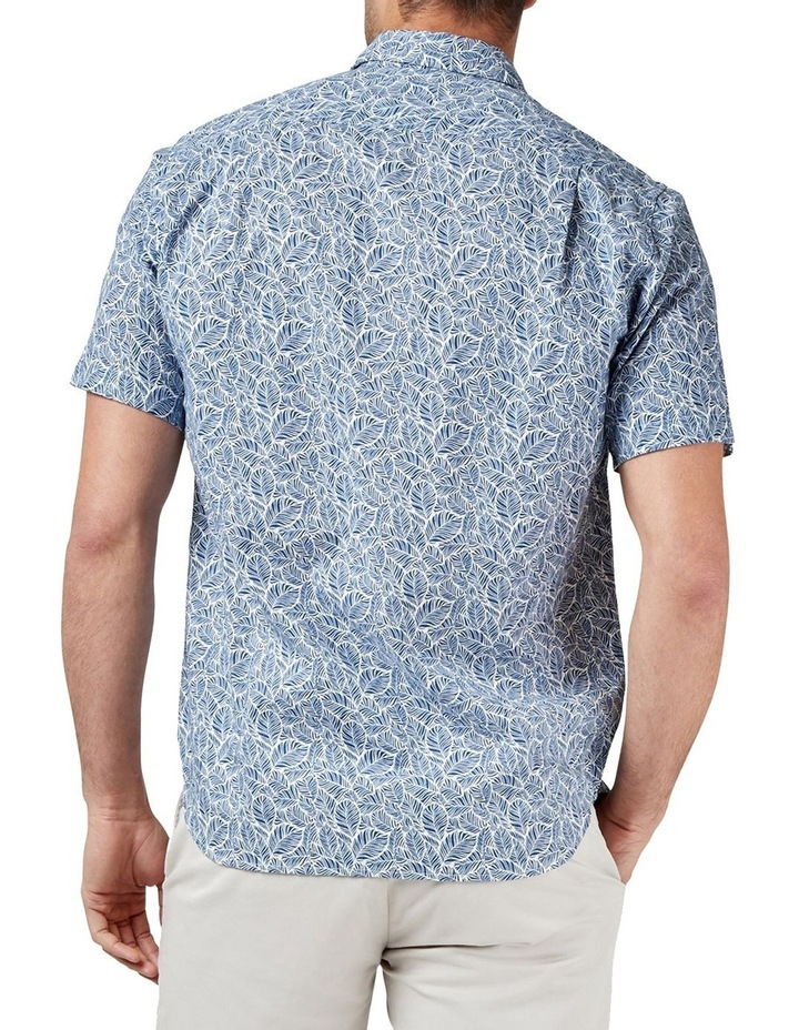 Alfie Short Sleeve Cotton Linen Print Shirt image 2