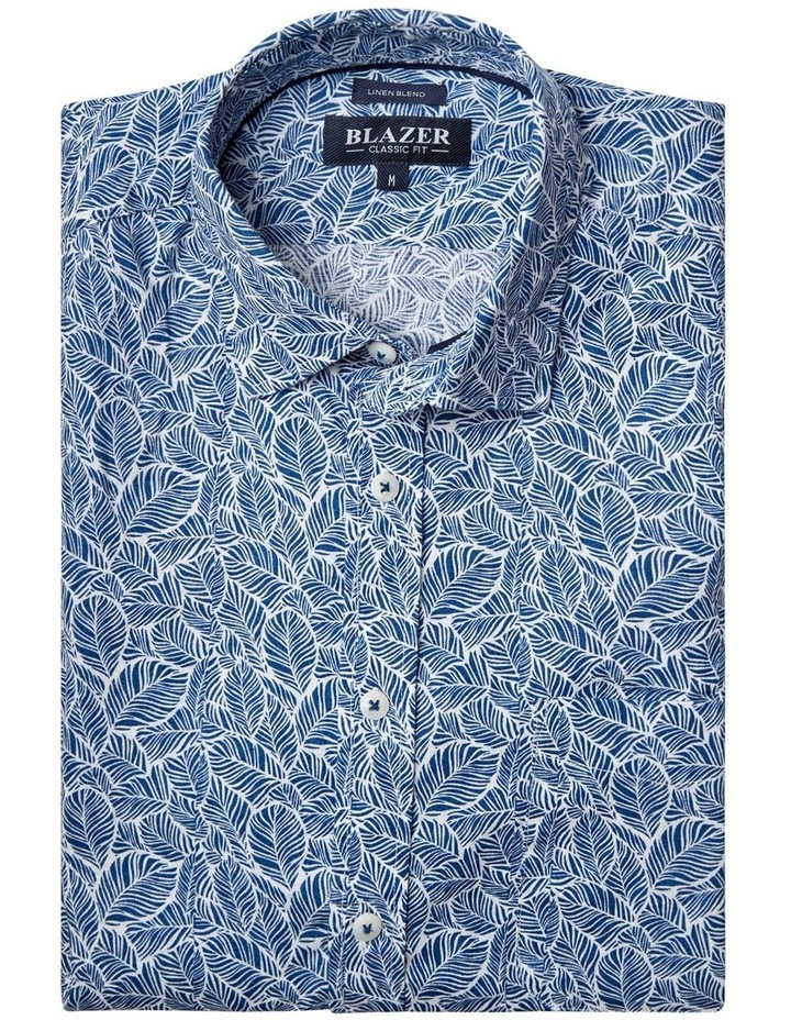 Alfie Short Sleeve Cotton Linen Print Shirt image 5