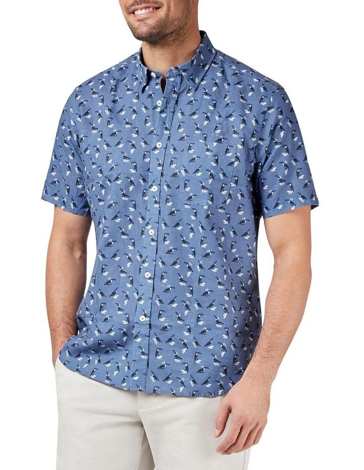Max Short Sleeve Cotton Linen Print Shirt image 1