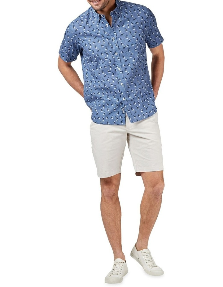 Max Short Sleeve Cotton Linen Print Shirt image 3