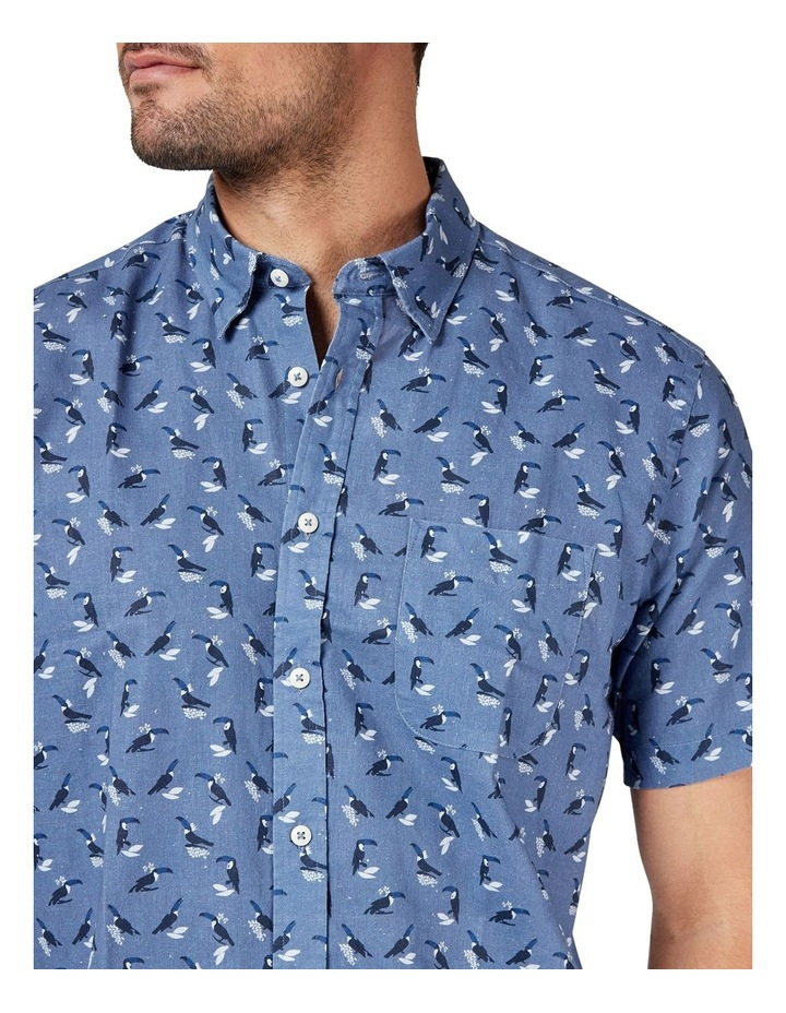 Max Short Sleeve Cotton Linen Print Shirt image 4