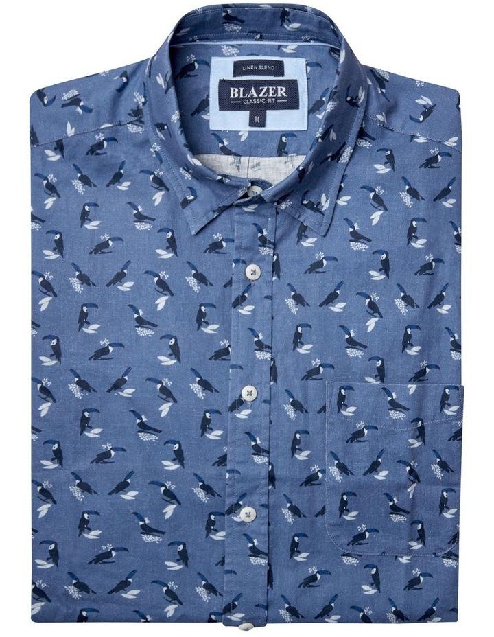 Max Short Sleeve Cotton Linen Print Shirt image 5