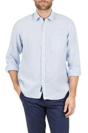 Blazer - David Long Sleeve Linen Shirt