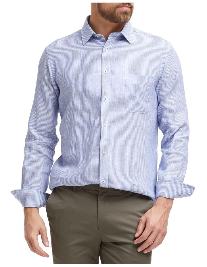 Edwin Long Sleeve Linen Stripe Shirt image 1