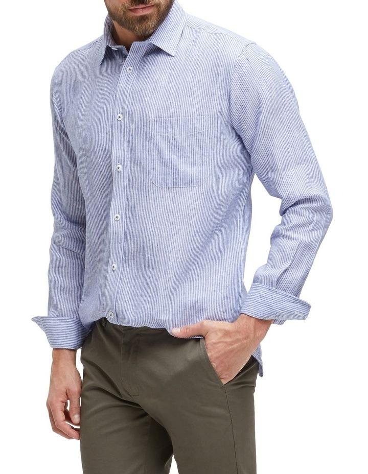 Edwin Long Sleeve Linen Stripe Shirt image 2