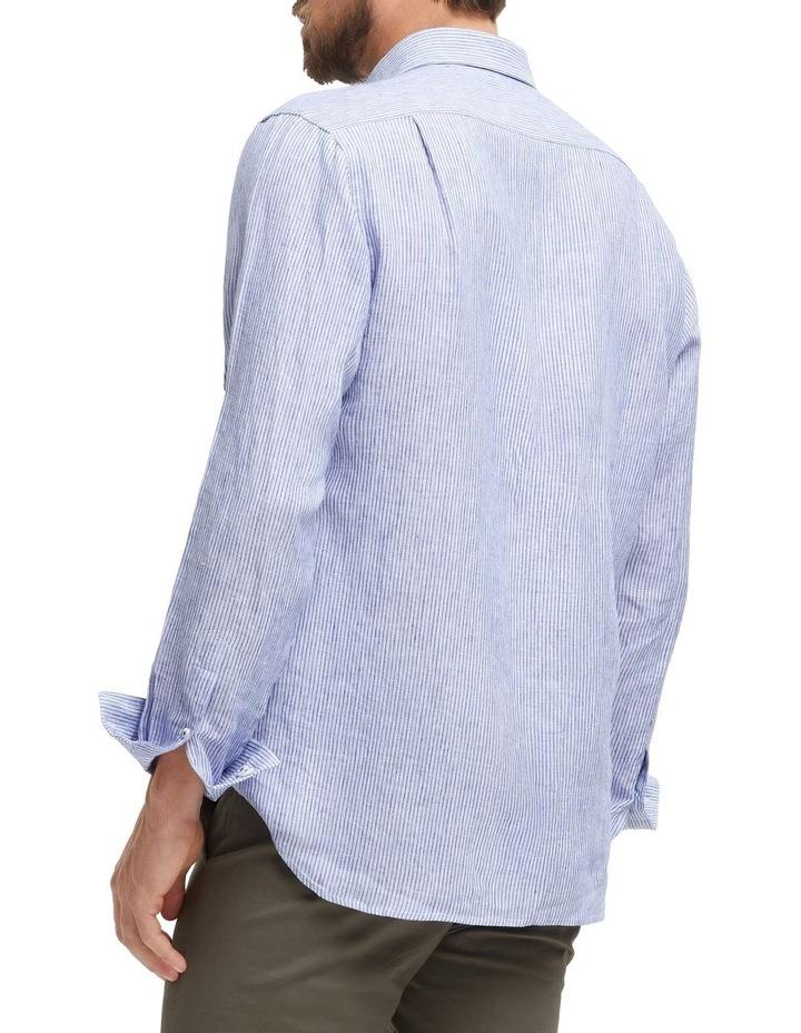 Edwin Long Sleeve Linen Stripe Shirt image 3