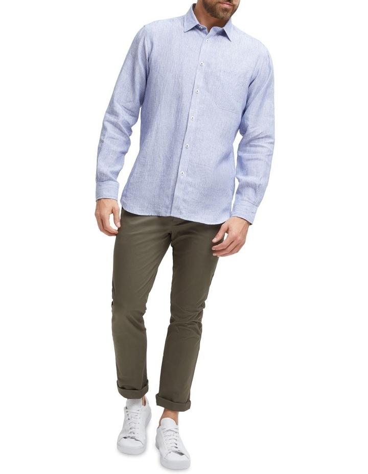 Edwin Long Sleeve Linen Stripe Shirt image 4